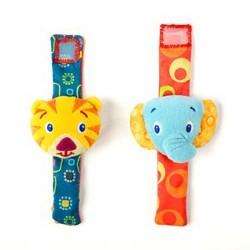 Погремушка на ручку Тигрёнок и Слонёнок